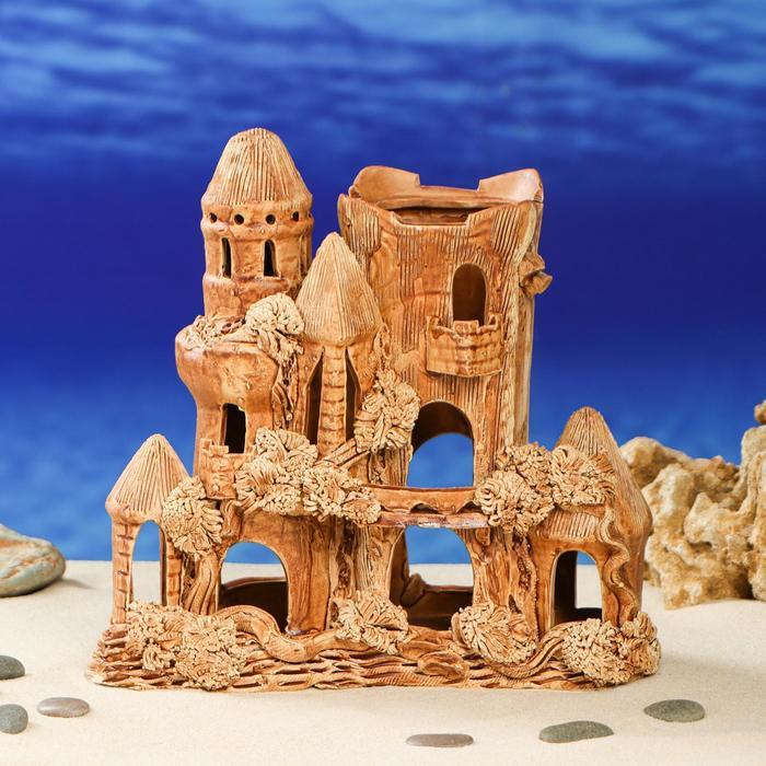 """Декорация для аквариума """"Замок квадратный"""" 11 см × 22 см × 28 см"""