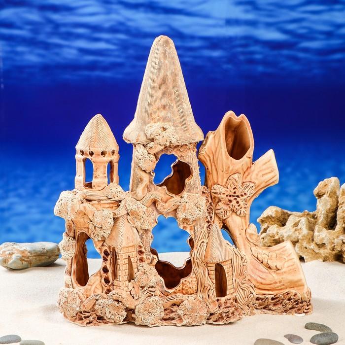 "Декорация для аквариума ""Замок с куполом"", 14 х 23 х 33 см"