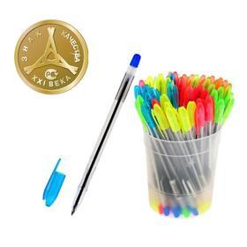 Ручка шариковая «Стамм» VeGa NEON, узел 0.7 мм, чернила синие на масляной основе, стержень 152 мм, микс
