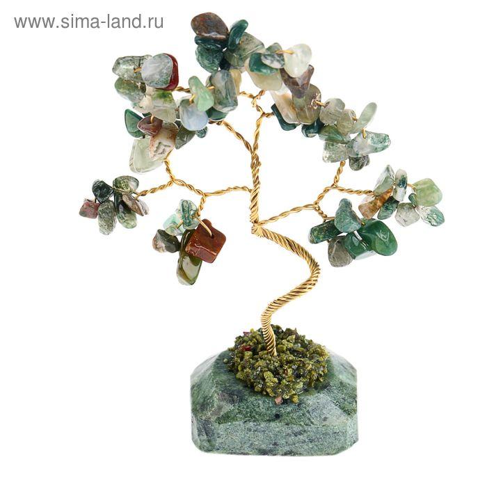 """Дерево счастья """"Гелиотроп"""", натуральный камень, 12 лист"""