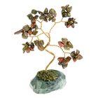 """Дерево счастья """"Яшма"""", натуральный камень, 12 лист"""