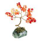 """Дерево счастья """"Сердолик"""", натуральный камень, 12 лист"""