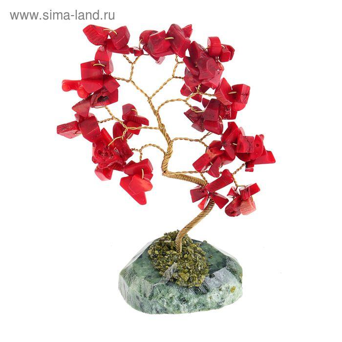 """Дерево счастья """"Коралл"""", натуральный камень, 21 лист"""