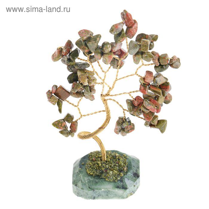 """Дерево счастья """"Яшма"""", натуральный камень, 21 лист"""