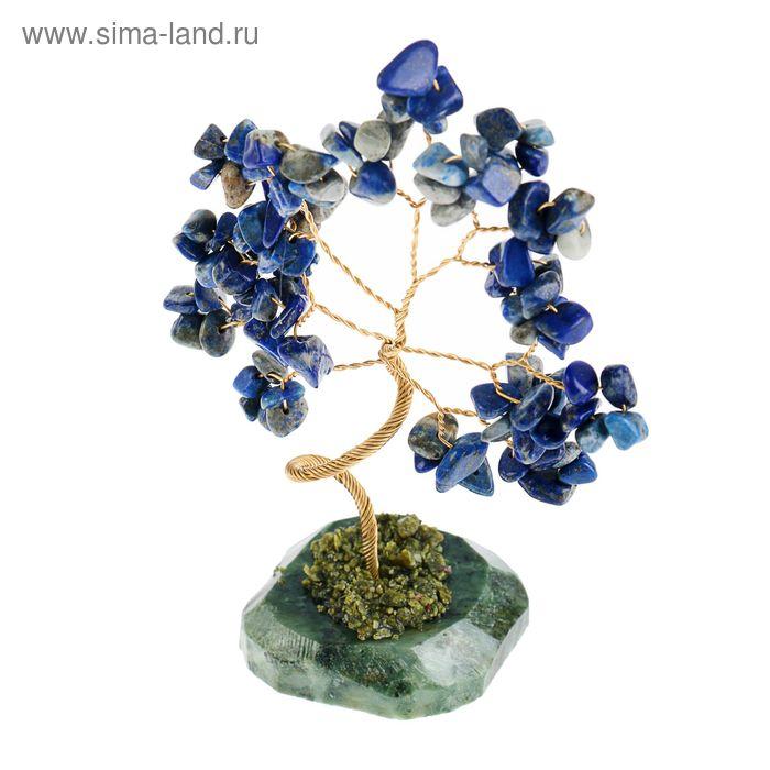 """Дерево счастья """"Лазурит"""", натуральный камень, 21 лист"""