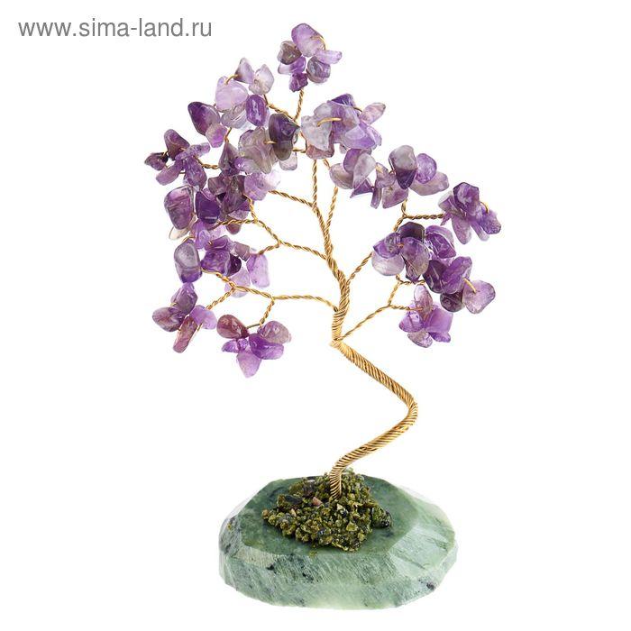 """Дерево счастья """"Аметист"""", натуральный камень, 21 лист"""