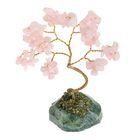 """Дерево счастья """"Розовый кварц, натуральный камень, 12 лист"""