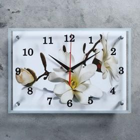 """Часы настенные, серия: Цветы, """"Орхидея"""", 25х35  см, микс"""