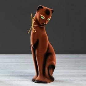 """Копилка """"Багира"""", флок, коричневая, 28 см"""
