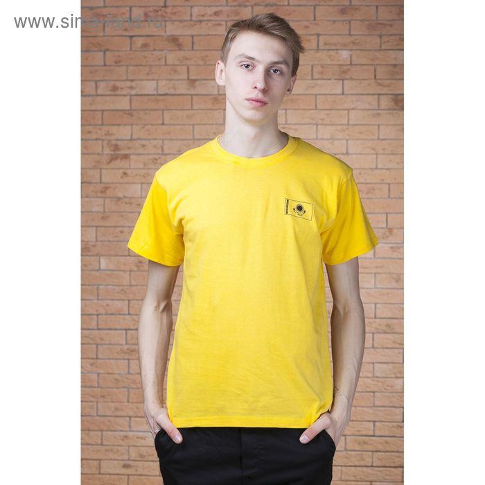 "Футболка мужская Collorista ""Я казах"", р-р XL (50), 100% хлопок, трикотаж, желтая"