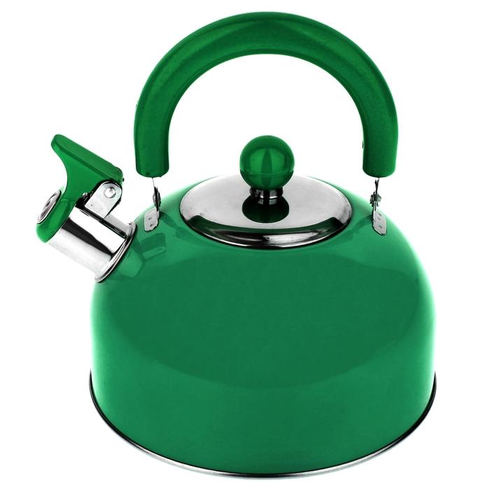 """Чайник со свистком """"Радуга"""", макс. объем 2,1 л, цвет зеленый"""