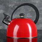 """Чайник со свистком 1,8 л """"Радуга"""", фиксированная ручка, цвет красный"""