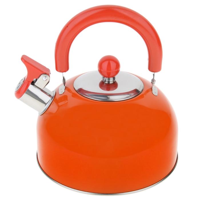 """Чайник со свистком """"Радуга"""", макс. объем 2,1 л, цвет оранжевый"""