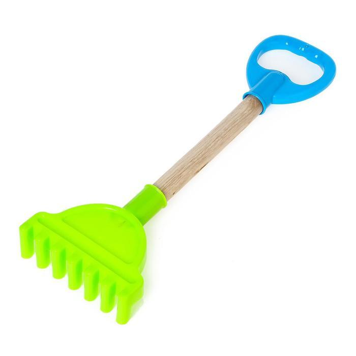 Игрушка для песочницы «Садовый инструмент» с деревянной ручкой, 36 см, МИКС