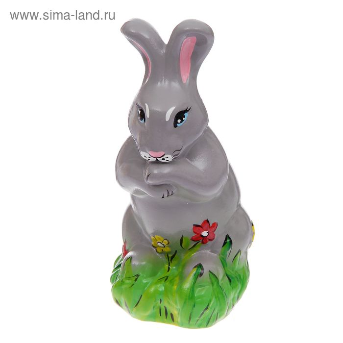"""Копилка """"Кролик в цветочках"""""""