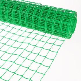 Сетка садовая, 1 × 10 м, ячейка 5 × 6 см, зелёная