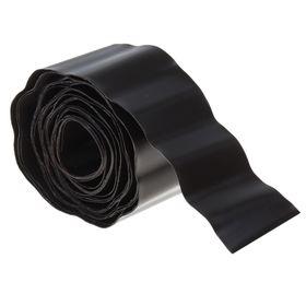 Лента бордюрная, 0.1 × 9 м, толщина 0.7 мм, гофра, коричневая Ош