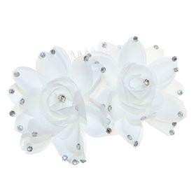Гребень для волос 'Декор невесты' распустившийся цветок Ош