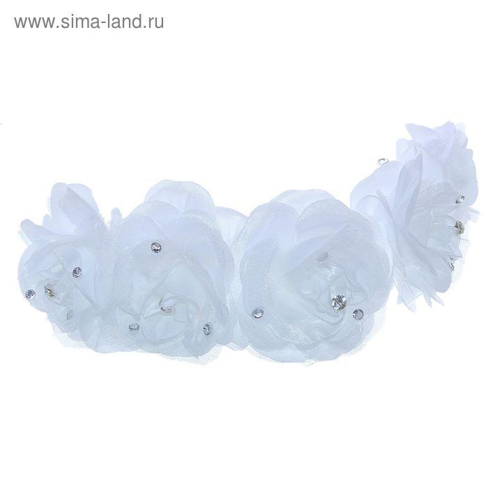 """Венок для волос """"Декор невесты"""" пышные розы"""