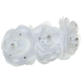 Гребень для волос 'Декор невесты' крупные розы, микс Ош