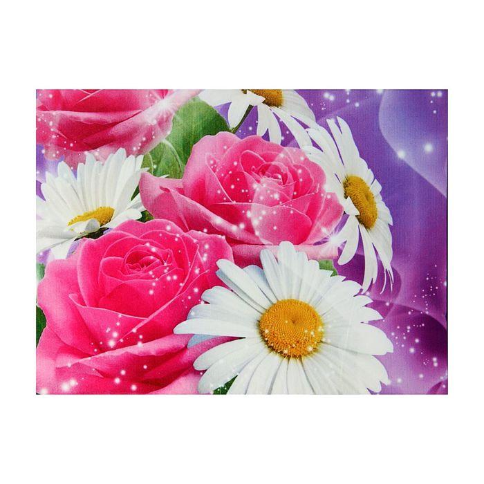 """Картина на подрамнике """"Сияние роз"""""""