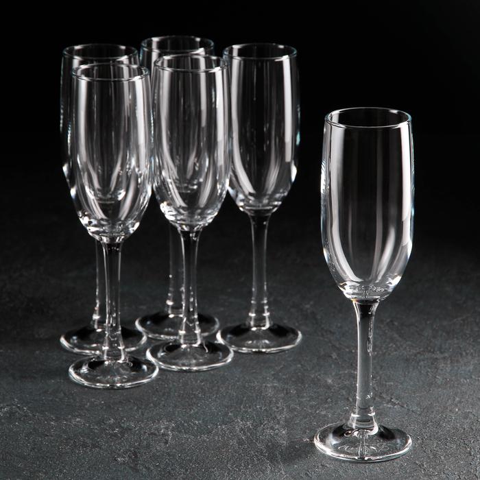 Набор фужеров для шампанского 155 мл Imperial Plus, 6 шт