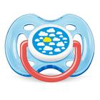 Пустышка силиконовая ортодонтическая Freeflow, для мальчиков, от 0 до 6 мес.