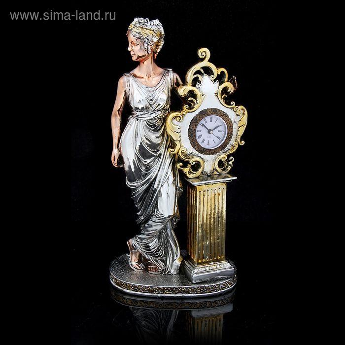 "Сувенир-часы ""Римлянка"" под золото, бронзу и серебро"
