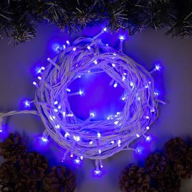 """Гирлянда """"Нить"""" 10 м , IP44, УМС, белая нить, 100 LED, свечение синее, 220 В в Донецке"""