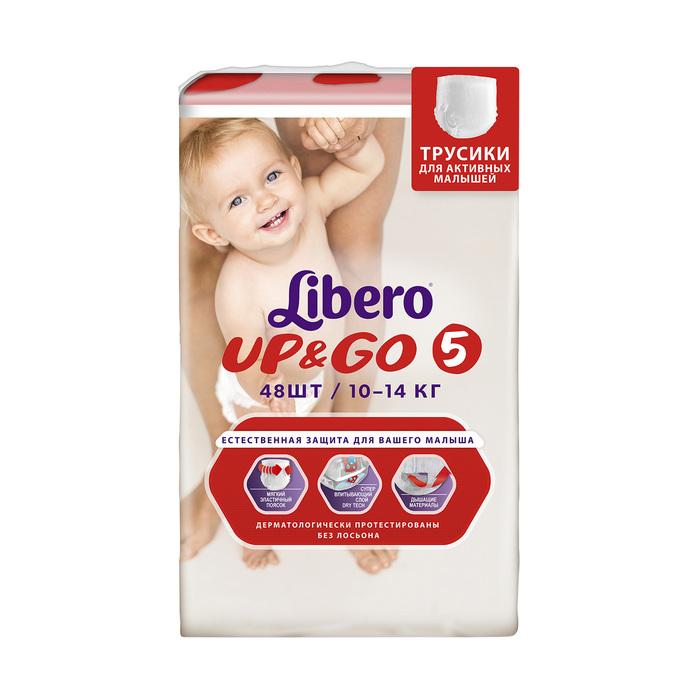 Трусики Libero Up&Go Maxi+, размер 5, 48 шт.