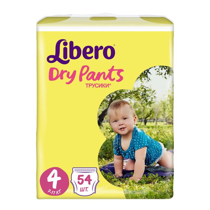 Трусики Libero Dry Pants Maxi, размер 4, 54 шт.