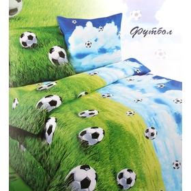 Постельное бельё Сударушка 'Футбол' 1,5 сп., размер 150х215 см, 150х215 см, 70х70 см - 2 шт. Ош