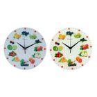 """Часы настенные круглые """"Фруктово-ягодное ассорти"""", стекло, 30х30 см, микс"""
