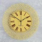 """Часы настенные круглые """"Узоры"""", бежевые, стекло, 30х30 см"""
