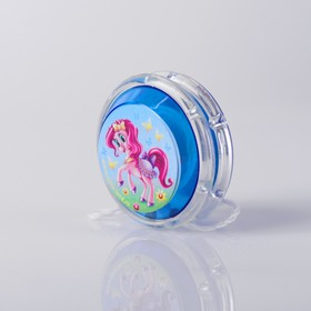 Йо-Йо «Пони», шарики внутри, d=4,7 см, цвета МИКС