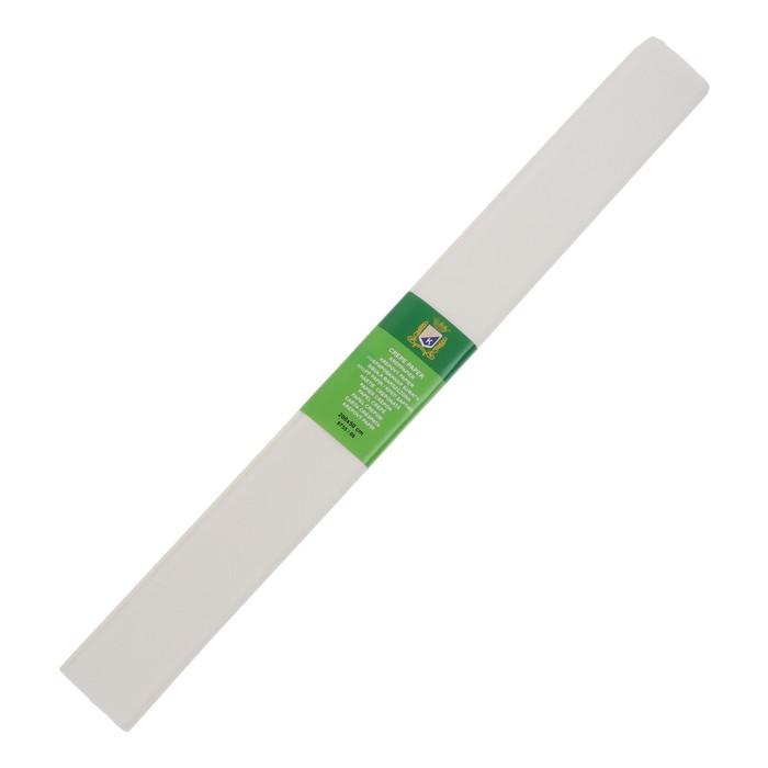 Бумага крепированная 50*200см плотность-32 г/м в рулоне Белая (80-20)