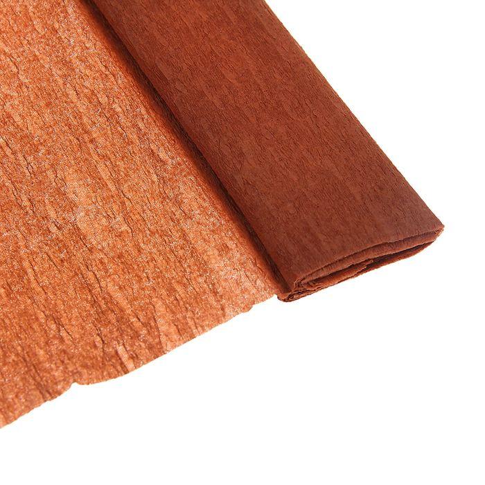 Бумага крепированная 50*200см плотность-32 г/м в рулоне Коричневая (80-43)