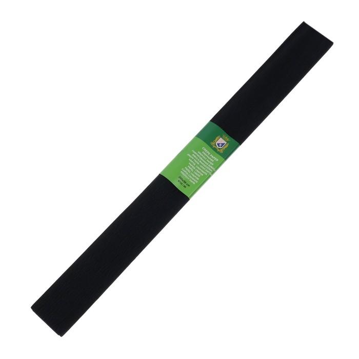 Бумага крепированная 50*200см плотность-32 г/м в рулоне Черная (80-19)