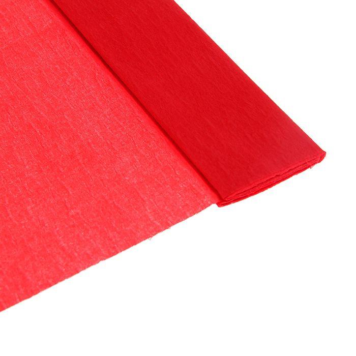Бумага крепированная 50*200см плотность-32 г/м в рулоне Красная (80-01)