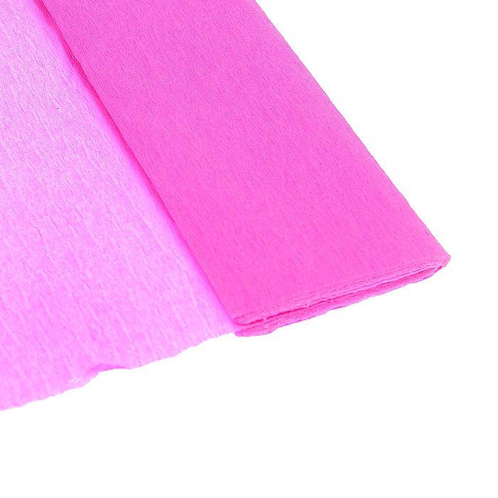 Бумага крепированная 50*200см плотность-32 г/м в рулоне Розовая (80-04)
