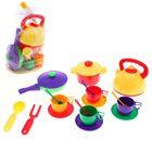 Набор посуды, 17 предметов, цвета МИКС