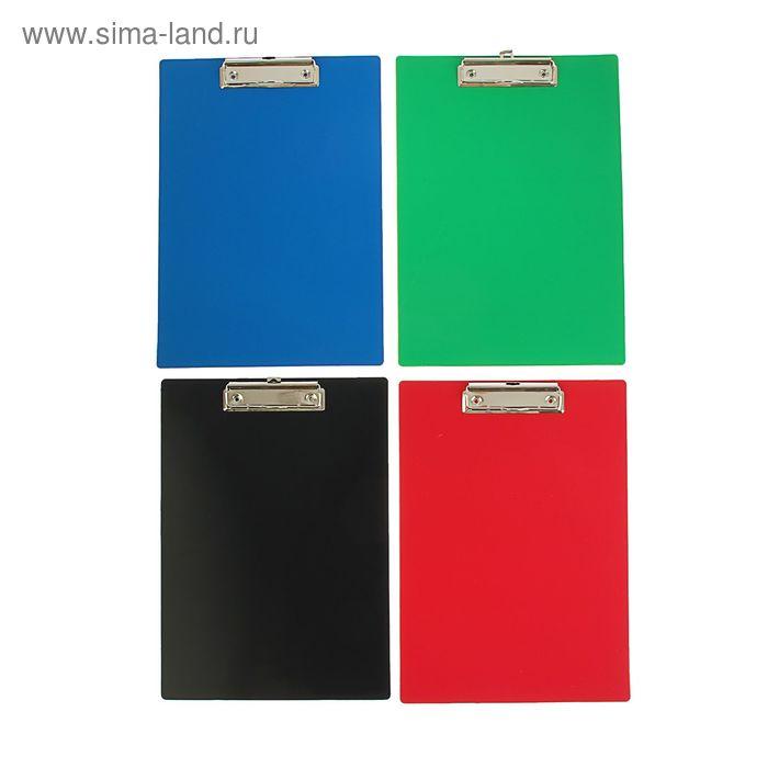 Папка-планшет А4, пластиковая с металлическим зажимом, 1.4мм, STANDARD, микс