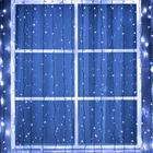 """Гирлянда """"Занавес"""" 2 х 3 м , IP44, УМС, тёмная нить, 760 LED, свечение белое, 220 В - фото 1608068"""
