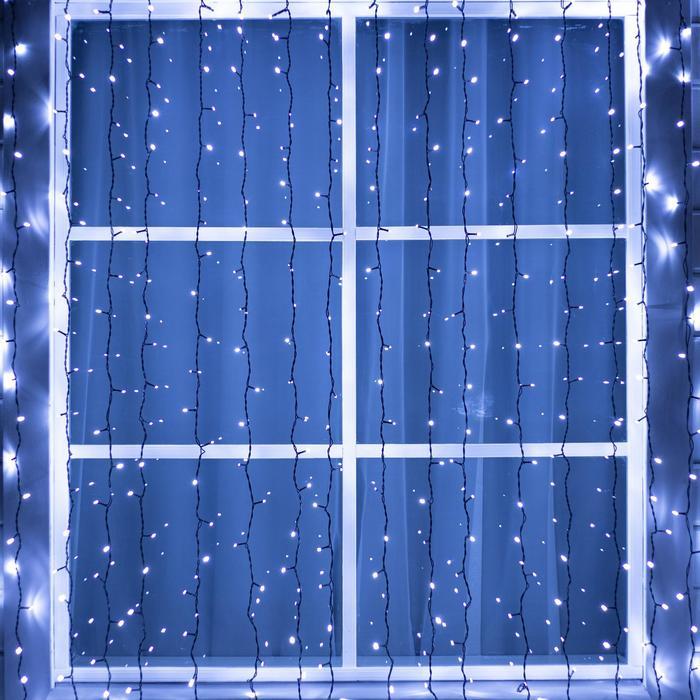 ЗАНАВЕС уличная, УМС, Ш:2 м, В:3 м, Н.Т. 3W LED-760-220V, БЕЛЫЙ