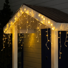 "Гирлянда ""Бахрома"" уличная, УМС, 3 х 0.6 м, 3W LED-160-220V, нить белая, свечение тёплое белое"