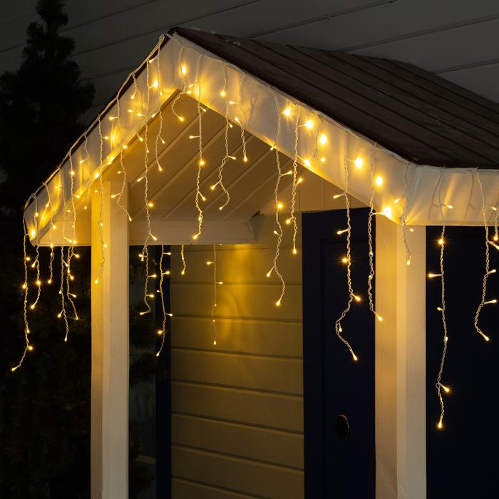 "Гирлянда ""Бахрома"" уличная, УМС, 3 х 0.6 м, 3W LED-160-220V, свечение тёплое белое"