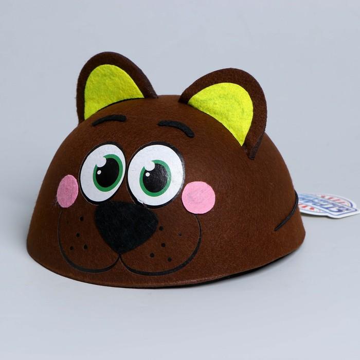 Карнавальная шляпа «Мишка», детская, р-р. 52-54