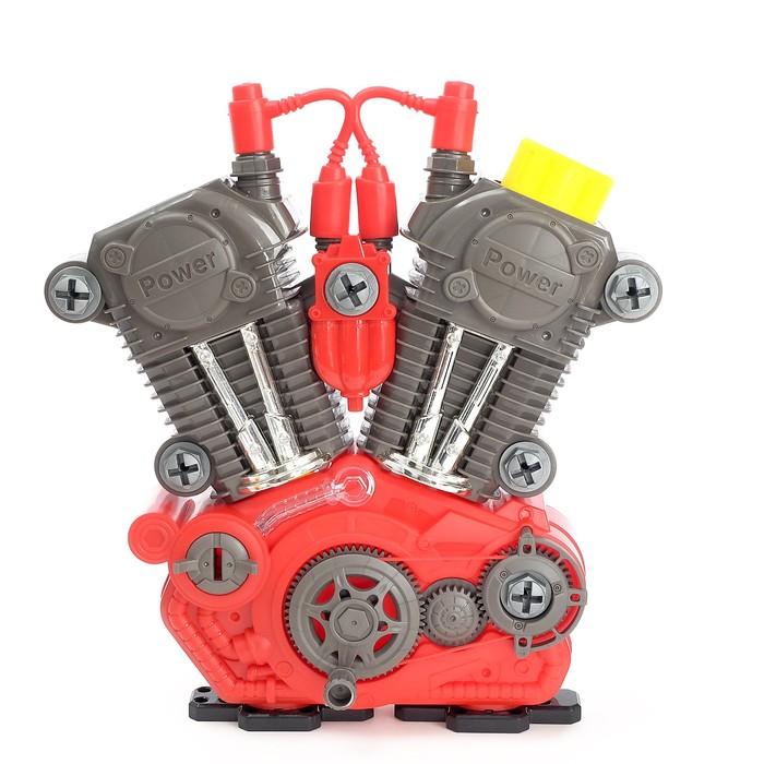 Конструктор «Двигатель внутреннего сгорания», световые и звуковые эффекты, 31 деталь - фото 14370433