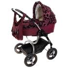 Коляска 2 в 1 ZOOM II: люлька, прогулочное сиденье, дождевик, москитная сетка, сумка, цвет фиолетовый с рисунком