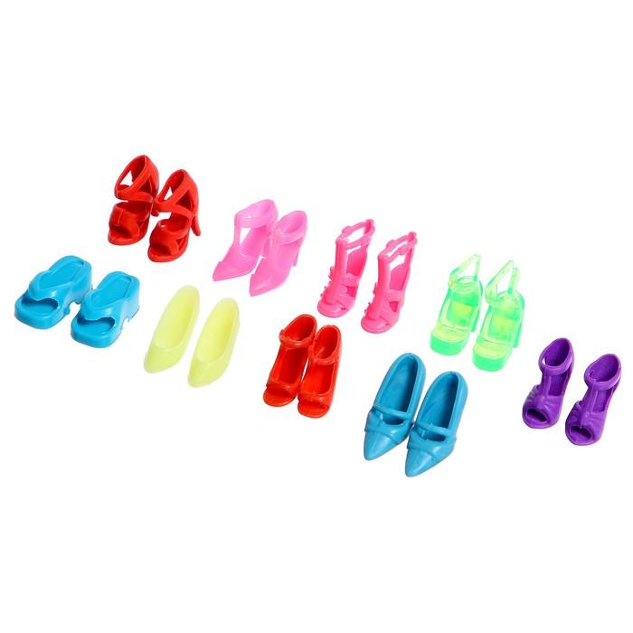 Аксессуары для куклы «Набор обуви», 9 пар - фото 105513616